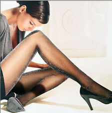 Glitter Shimmer Tights Sheer shiny pantyhose thin silver gold blue purple colour