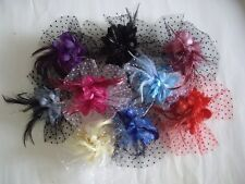 10 Colors Available!! Corsage Brooch Fascinators Red Black Gray Blue Pink Ivory
