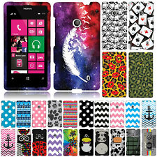 For T-Mobile Nokia Lumia 521 Geometric Snap On HARD Case Cover Accessory