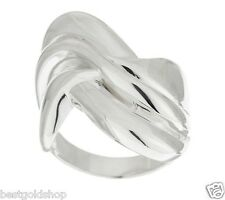 Polished Sculpted Wave Design Ring Real Solid 925  Sterling Silver QVC J286406