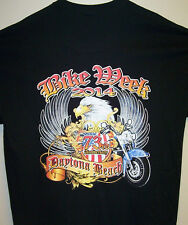 2014 Daytona Beach Bike Week Black T Shirt Sz Sm - 6XL TRIBAL EAGLE & FLAG