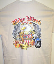 2014 Daytona Beach Bike Week Sand T Shirt Sz Sm - 5XL TRIBAL EAGLE & FLAG