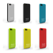2800Mah Power Backup External Battery Pack Glossy Case Cover for Apple iPhone 5C