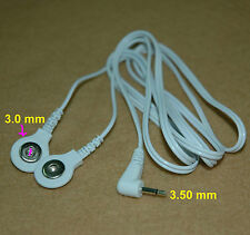 Stud Snap Connection Electrode Wire Cable Lead 3.5mm Male Head for TENS Machine