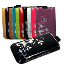 Patent Pull Up Leather Case Pouch For HTC Nexus One Wildfire G8 Desire C(73x123)