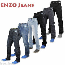 Jeans Homme Enzo Coupe Standard Jambes Droites Taille 28 - 48