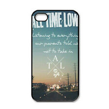 Music Band All Time Low For iPhone 4 4S 5 5G 5S 5C Case Hard Plastic Back Cover