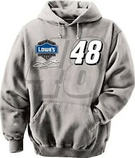 JIMMIE JOHNSON #48 LOWES GREY STRAIGHT AWAY HOODED SWEATSHIRT
