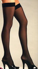 1-2pc Lace Garterbelt Panty + Sheer Thigh High Stockings S-L Be Wicked! 1304 562