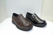 New Boys' Back to School Patent  Leather Loafer Black Brown Kids Size 11-4