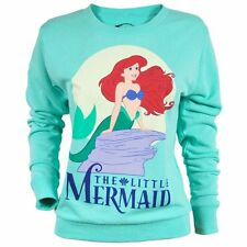 Womens Disney Licensed The Little Mermaid Ariel Sweater Turquoise NEW