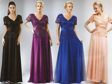 FORMAL OCCASION MOTHER OF BRIDE / GROOM CLASSY EVENING LONG DRESS S-3XL