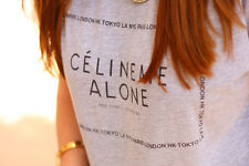 CELINE ME ALONE T SHIRT MAROON CELFIE TOP RUM WIFEY VOGUE COCO PARIS FASHION NEW