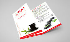 50 x DL Folded Flyers (A4 folded to DL) - Printed Full Colour in High Quality
