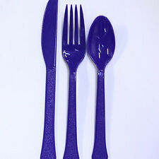 NEW COLORS Plastic Cutlery includes 48 pieces - 16 forks, 16 knives and16 spoons