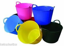 PACK OF 3 - 7L FLEXI TUB / TUBS / BUCKETS / CONTAINER FOR GARDEN MADE IN UK