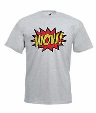 WOW funny cartoon present NEW Boy Girls Kids size T SHIRT TOP Age 1-15 Year old