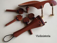 VIOLIN WOOD SET - Tail piece with gut & 'E' adjuster, chin rest, pegs & endpin