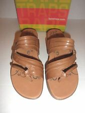 "NWT $60 Womens Bare Traps ""Jump Out"" Wedge Sandals: Auburn Brown"