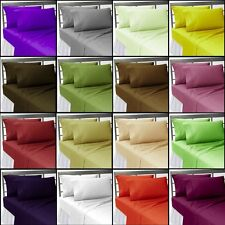 400TC (DUVET COVER SET) UK BEDDING SIZE ALL COLOR & SIZE 100% EGYPTIAN COTTON