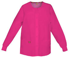 Scrubs Dickies EDS Snap Front Warm-Up Jacket 86306 Hot Pink HPKZ  FREE SHIPPING!