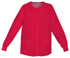 Scrubs Dickies EDS Snap Front Warm-Up Jacket 86306 Red REWZ  FREE SHIPPING!