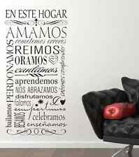 En este hogar spanish vinyl wall decal quote decoration words lettering sticker