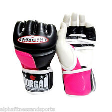 Morgan Diabla MMA Gloves Boxing Muay Thai UFC Mitts Bag Sparring Ladies Pink