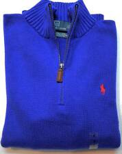 New with Tag Ralph Lauren POLO Mens 1/4 zip SWEATER Blue