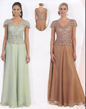 4 COLORS FORMAL OCCASION LOVELY MOTHER OF BRIDE / GROOM DRESS EVENING  M - 5XL