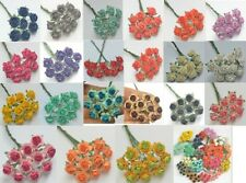 100 PCS MULBERRY PAPER ARTIFICIAL ROSE HEAD FLOWERS 1.5 cm./  0.6 INCH