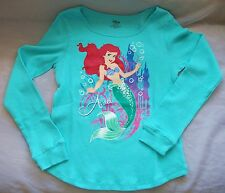 The Disney Store Princess Ariel Long Sleeve Thermal Top For Girls New With Tag