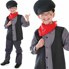 New Victorian Urchin Boys Chimney Sweep Fancy Dress Oliver Costume Mary Poppins