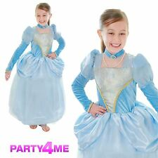 GIRLS DELUXE TUDOR BLUE PRINCESS CINDERELLA PANTOMIME PANTO FANCY DRESS COSTUME