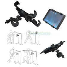 "NEW 360° ROTATING MUSIC MICROPHONE STAND ADAPTER HOLDER MOUNT FOR 8""-10"" TABLET"
