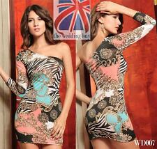 Sexy Womens One Shoulder Stretch Clubbing Evening Party Bodycon Mini Dress WD007