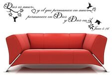 Dios es amor spanish christian vinyl wall decal religious quote sticker decor
