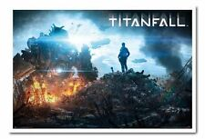 Framed Titanfall Landscape Poster Ready To Hang - Choice Of Frame Colours