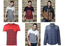 Mens Jack South T-Shirt Shirt Jacket Smart Top Stripe Tee Jersey Smart Casual