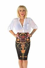 IRON FIST LADIES MAYAN TEMPLE PENCIL SKIRT (L2B)