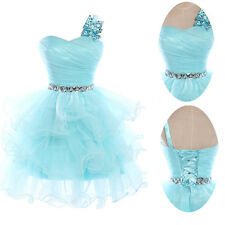 New Women Strapless Sleeveless Fashion Evening Party Organza Sweet  Dress