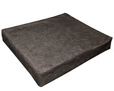 mn123t Brown Crushed Velvet Style 3D Box Sofa Seat Cushion Cover*Custom Size*