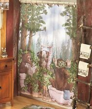 In the Woods Bath Ensemble Does a Bear .... In the Woods? Shower Curtain more