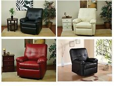 Eco Leather Kensington Recliner OSP Designs Living Room Lounge Chair - 4 Colors