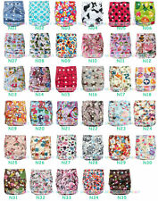 1X New Adjustable Reusable Baby Washable Print Cloth Diaper Nappy Covers Inserts