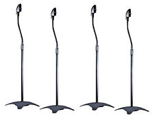 Set Of Four)4-Black Surround Sound Audio Speaker Stands For Home Theater(2-Pair