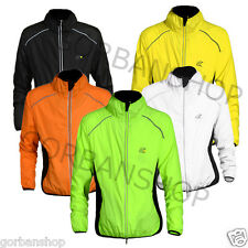 Adult Bicycle Bike Running Riding Outdoor Jacket Windproof Water Resistant HiVis