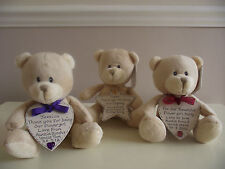 Personalised Bridesmaid Flower Girl Pageboy Gift Teddy Bear - Choose Colour