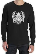 Dripping Diamond ROYAL LOGO Long Sleeve T-Shirt SKATE URBAN INDIE Hip Hop DOPE