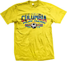 Colombia Play Hard World Cup 2014 Colombian Futbol Soccer Flag Mens T-Shirt